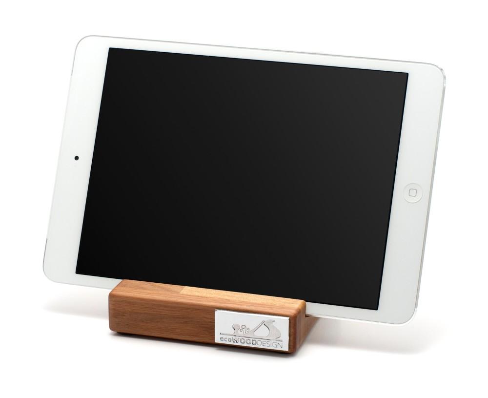iPad-ställ i trä, valnöt